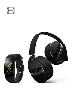samsung-gear-fit-2-pro-black-with-free-akg-y50bt-bluetooth-headphones