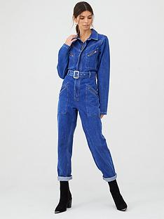 v-by-very-zip-pocket-denim-jumpsuit-indigo