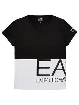 ea7-emporio-armani-girls-short-sleeve-large-logo-t-shirt-black