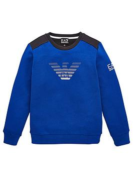 ea7-emporio-armani-boys-crew-neck-large-eagle-sweat-top-blue