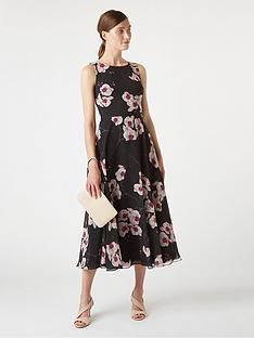 hobbs-orchid-print-carly-dress-black-multi