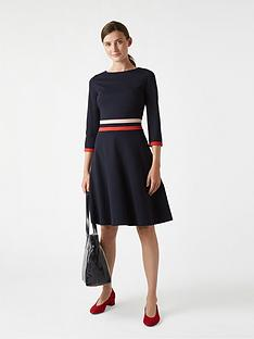 hobbs-sleeved-seasalter-dress-navyred