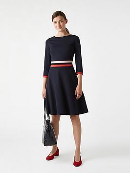 hobbs-sleeved-seasalter-dress-navyred