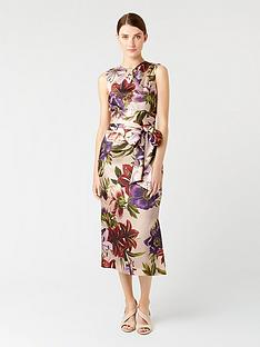 hobbs-printed-thao-dress-blush-multi
