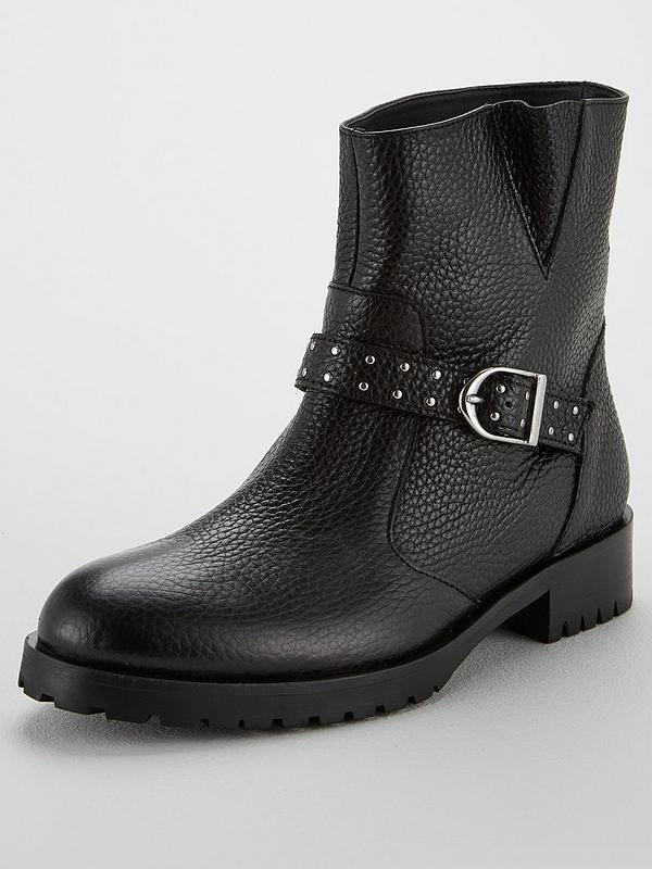 pretty nice distinctive style amazing quality Biker Pull On Ankle Boots - Black