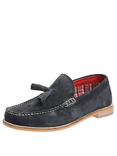 base-london-tempus-suede-loafers-navy