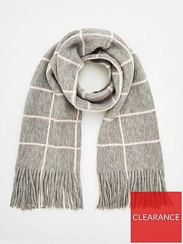 v-by-very-window-pane-check-scarf-grey