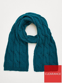v-by-very-cable-knit-scarf-teal
