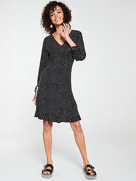 v-by-very-button-down-tea-dress-polka-dot
