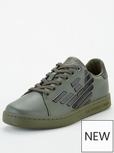 ea7-emporio-armani-boys-classic-logo-lace-up-trainers-forest-green