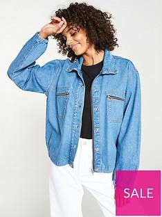v-by-very-zip-pocket-denim-jacket-mid-wash