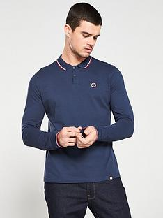 pretty-green-tipped-pique-long-sleeve-polo-shirt-navy