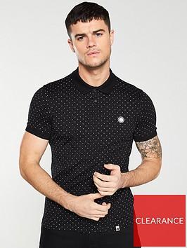 pretty-green-polka-dot-polo-shirt-black