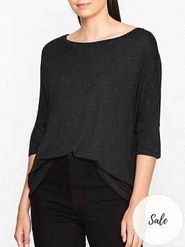 allsaints-plira-shimmer-t-shirt-black