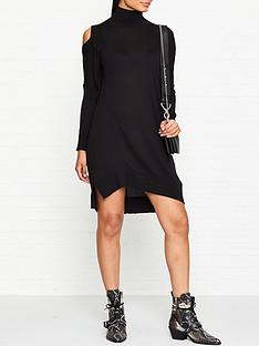 allsaints-cecily-dress-black