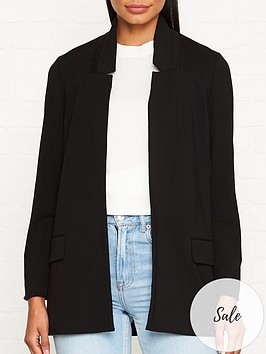 allsaints-aida-jersey-blazer-black