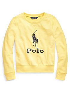 ralph-lauren-girls-polo-crew-sweat-top-yellow