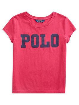 ralph-lauren-girls-short-sleeve-polo-graphic-t-shirt-bright-pink