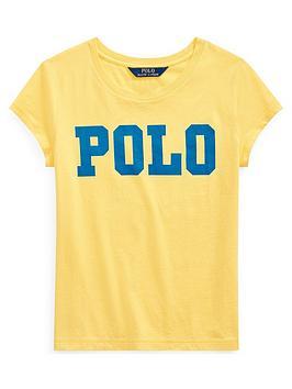 ralph-lauren-ralph-lauren-girls-short-sleeve-polo-graphic-t-shirt-yellow