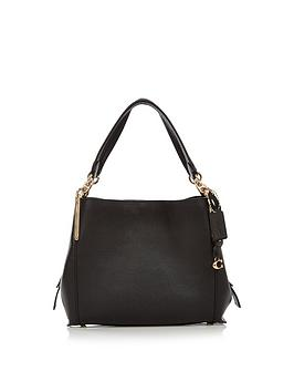 coach-pebbled-leather-dalton-28-shoulder-bag-black