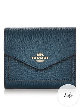 coach-small-crossgrain-leather-flap-purse-petrol-green