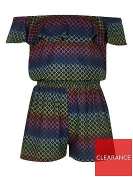 river-island-girls-rainbow-ri-monogram-playsuit-black