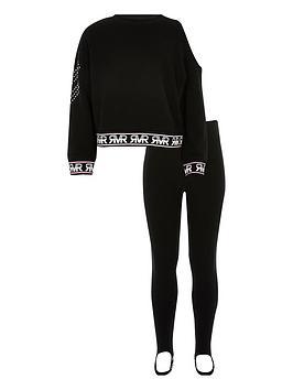 river-island-girls-one-shoulder-sweatshirt-outfit-black
