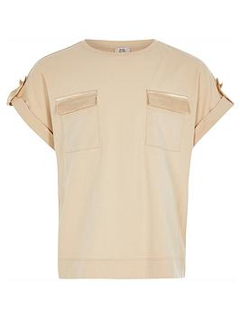 river-island-girls-utility-t-shirt-camel