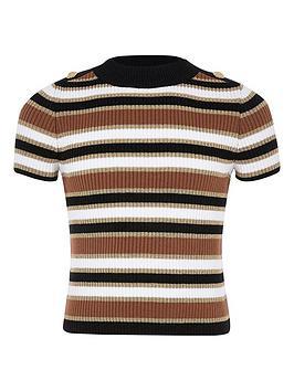 river-island-girls-stripe-knitted-t-shirt-beige