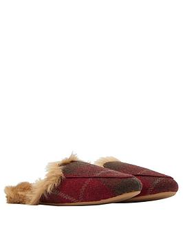 joules-fauxnbspfur-lined-mule-slippers-in-gift-box-red-check