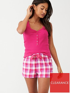 v-by-very-christmas-gift-wrapped-vest-and-short-set-pink