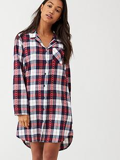 v-by-very-check-nightshirt-red