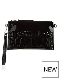 versace-jeans-couture-embossed-logo-pouch-black