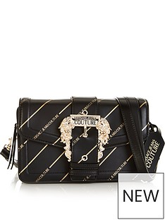 versace-jeans-couture-all-over-logo-cross-body-buckle-bag-blackgold