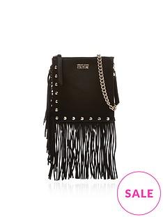 versace-jeans-couture-fringe-messenger-cross-body-bag-black