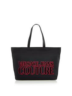 versace-jeans-couture-nylon-tote-bag-black