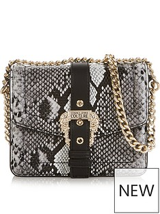 versace-jeans-couture-snake-buckle-cross-body-bag-grey