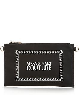 versace-jeans-couture-logo-print-pouch-black