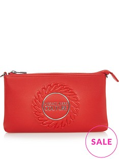 versace-jeans-couture-logo-crest-pouch-red