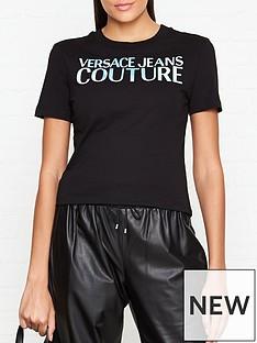 versace-jeans-couture-iridescent-logo-t-shirt-black