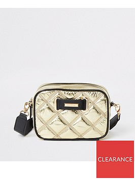 river-island-river-island-quilted-cross-body-bag-gold