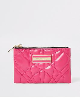 river-island-river-island-quilted-mini-pouch-hot-pink