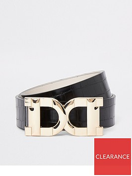 river-island-gold-buckle-belt-black