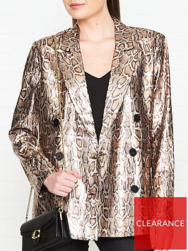 sofie-schnoor-metallic-snake-sequin-blazer-gold