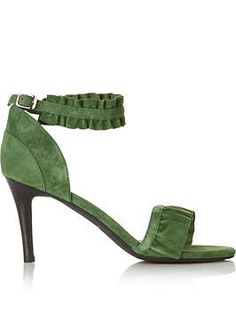 sofie-schnoor-frill-trimmed-heeled-sandals-green