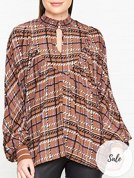 sofie-schnoor-checked-blouse-brown