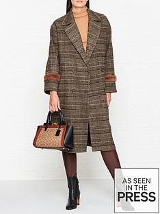 sofie-schnoor-checked-coat-brown