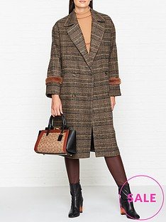 sofie-schnoor-checked-coat-brown