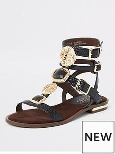 914d92d5dcfa River Island River Island Gladiator Sandals - Black