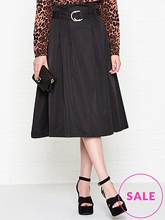 sofie-schnoor-belted-midi-skirt-black